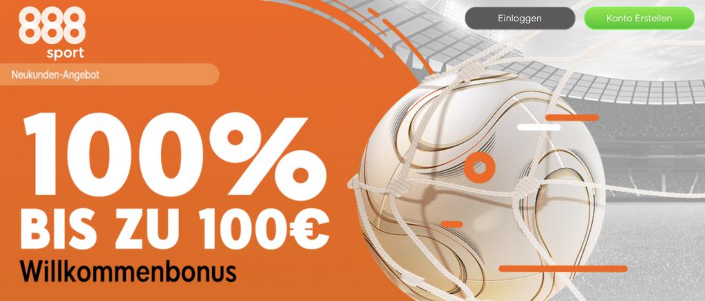 888sport Bonus fuer Neukunden Banner