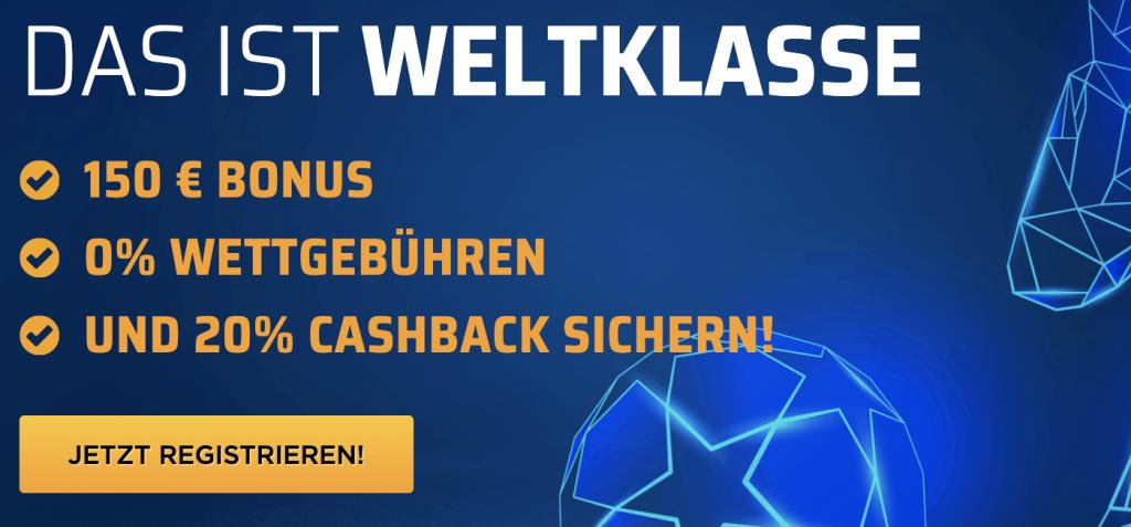 Bet3000 Bonus 150 Euro Banner